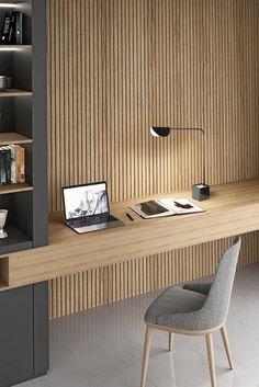Study Table Designs, Study Room Design, Room Design Bedroom, Room Interior Design, Home Room Design, Home Office Design, Living Room Designs, Furniture Design, Apartamento New York
