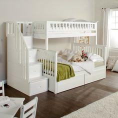 Kinderhochbett weiß  Wählen Sie das richtige Hochbett mit Treppe fürs Kinderzimmer ...
