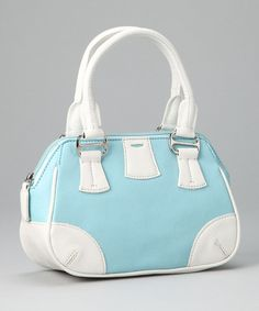 Take a look at this Baby Blue Bowler Bag by Traveler Girls on #zulily today!