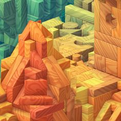 Castle Block by JR Schmidt, via Behance