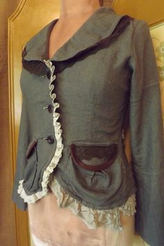 Victorian Design Lagenlook Upcycled Romantic by bluemermaiddesigns