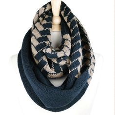"""Warm Herringbone Infinity Scarf A favorite of many, these beautiful fall Herringbone scarves come in two colors; Taupe and Teal! Dimension: 16"""" W * 29"""" L. High end quality. Available now! Price is firm unless bundled. Accessories Scarves & Wraps"""