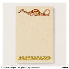 SOLD 10/2/2017 through Zazzle (via a 3rd party) to a customer in Benton, AR: one pad of Medieval Dragon Design 2015 Post-it Notes.  #Zazzle #sold #post_it_notes #sticky_notes #dragon #medieval_dragon #dragon_design #medieval_dragon_design #two_legged_dragon