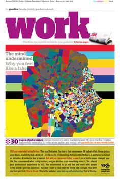 Work supplement. The Guardian Berliner redesign 2005. Mark Porter, Richard Turley, Mark Leeds, Sarah Habershon, Michael Booth