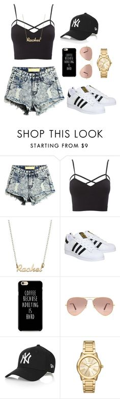 """""""Untitled #36"""" by rachelgreene16 on Polyvore featuring Charlotte Russe, adidas, Ray-Ban, Topshop, Michael Kors and plus size clothing"""