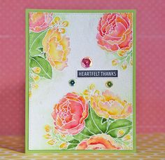 Flower card 2 | Mama Elephant  Organic Blooms