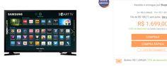 "Smart TV LED 43"" Samsung UN43J5200AGXZD Full HD Conversor Digital 2 HDMI 1 USB Screen Mirroring e Connect Share Movie 60Hz << R$ 169990 >>"