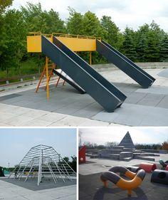 ciudad observatorio: los playgrounds de Noguchi: cuando un artista hace juegos para niños