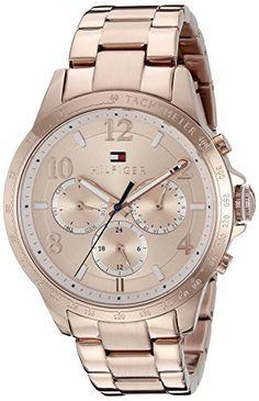 589923ade0dad0 Tommy Hilfiger Womens 1781642 Dani Analog Display Japanese Quartz Rose Gold  Watch     Continue