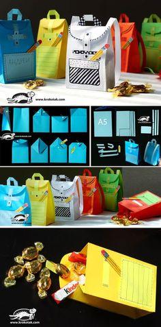 Rucksäcke als Geschenkverpackung