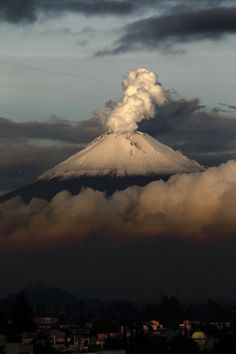Popocatepetl Volcano, near to Mexico City