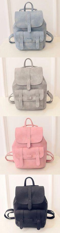 $18.59 Stylish PU Leather Backpack Shoulder Bag School Bags Shoulder Bag For Women