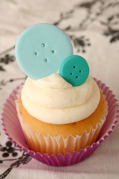 Cute As A Button Edible Cake or Cupcake by SwtLvndrBkeShpe on Etsy