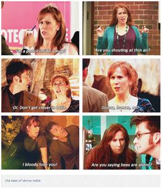 "The best of Donna Noble - Also, ""Listen, I don't know what sort of kids you've been flying around outer space with, but you're not telling me to shut up!"""