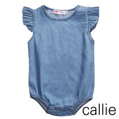 e3e7a3324 Baby Girl Denim Rompers. Girls PlaysuitDenim PlaysuitRuffle RomperDenim  JumpsuitBaby ...