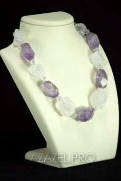 Ожерелье из Аметрина и Горного хрусталя №1365