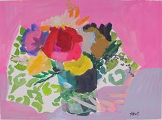 Gouache - Linda Hunt Fine Art Still Life 2, Gouache, Fine Art, Floral, Flowers, Visual Arts