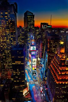 The dazzling lights of Times Square, New York City