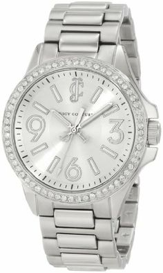 Juicy Couture Women's 1900958 Jetsetter Stainless Steel Bracelet Watch Juicy Couture. Save 24 Off!. $189.99. Swarovski crystal set bezel. Japanese quartz movement. Water-resistant to 30 M (99 feet). 38 mm stainless steel round case. Sizeable bracelet