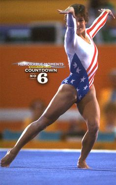 Los Angeles 1984 Olympics Mary Lou Retton becomes America's sweetheart.