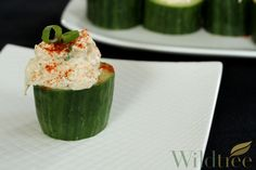 Stuffed Cucumbers with Spicy Crab!    www.Facebook.com/wildtreeofficial