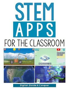 """STEM Apps for the Classroom. """"STEM is everywhere these days. If you're looking (and I hope you are) to add more STEM activities to you classroom, check out some of my favorite apps I use in the classroom. 4th Grade Science, Stem Science, Math Stem, Science Ideas, Physical Science, Earth Science, Science Experiments, Science Labs, Mad Science"""