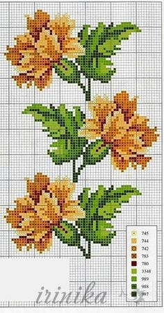 Gallery.ru / ???? #3 - ????? ?? 1 ???? - irinika #crossstitchflowers #cross #stitch #flowers #motif