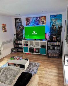 Nerd Room, Gamer Room, Boys Game Room, Boy Room, Bedroom Setup, Room Ideas Bedroom, Small Game Rooms, Otaku Room, Video Game Rooms