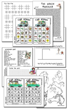 Free Printable Travel Games and Activities for Kids