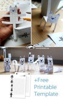 Block Paper ANIMALS. I love this printables