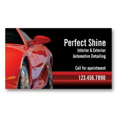 car detailing business card - Car Detailing Business Cards