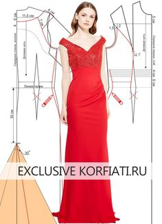 Red gown sewing pattern
