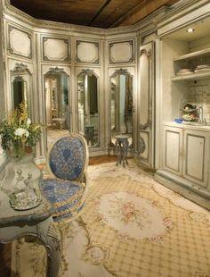 Glamorous dressing room!