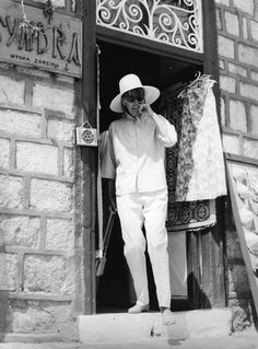 Greta #Garbo on #Hydra island in Greece - 1965