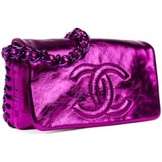 Pre-owned Chanel Shoulder Bag ($1,600) ❤ liked on Polyvore featuring bags, handbags, shoulder bags, apparel & accessories, wallets & cases, chanel purse, purple shoulder bag, flap shoulder bag, purse shoulder bag and chanel handbags