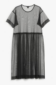 A barely-there wide fitting mesh dress to throw on over whatever you will.