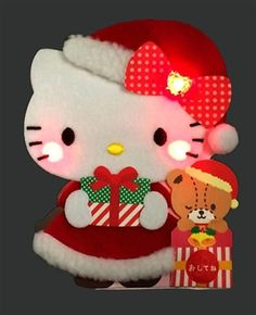 Hello Kitty Santa Claus Soft and Fluffy Illuminated Lights and 16 Melodies Pop Up Christmas Card Navidad Hello Kitty, Hello Kitty Christmas, Sanrio Hello Kitty, Merry Little Christmas, Kids Christmas, Christmas Art Projects, Christmas Themes, Christmas Crafts, Christmas Ornaments
