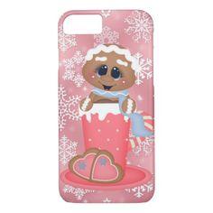 #gingerbread cocoa snowflake iPhone 7 case - #Xmas #ChristmasEve Christmas Eve #Christmas #merry #xmas #family #kids #gifts #holidays #Santa