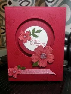 Flower Spinner by lizzier - Cards and Paper Crafts at Splitcoaststampers
