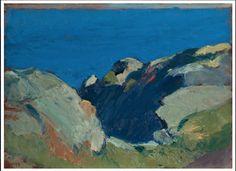 Edward Hopper, painting of the Maine coast