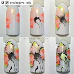 #Repost @provocative_nails with @repostapp ・・・ #мк_provocative_nails Фантазийная флористика  центральный элемент цветка можно выложить стразами для торжественного случая #мкногти