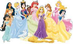 Princesas Disney (Todas Juntas) - Kit Completo com molduras para convites, rótulos para guloseimas, lembrancinhas e imagens!