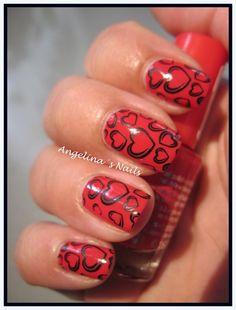 cute hearts!  nail stamping