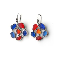 Sea Glass Flower Earrings - Bright! By Tania Covo