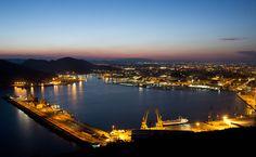 Vistas nocturnas de Cartagena