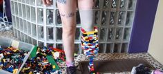This must be the best prosthetic leg ever. It was built from LEGO bricks. Watch amputee Christina Stephens as she puts each brick on until it's complete. Step On A Lego, Lego Sculptures, Lego Videos, Prosthetic Leg, Lego Pieces, Lego Brick, Magazine Design, Legos, First World