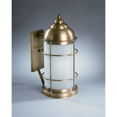 Northeast Lantern Nautical 1 Light Outdoor Wall Lantern Finish: Antique Brass, Shade Type: Clear Seedy
