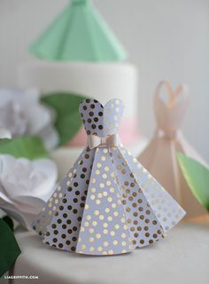 Paper Dress DIY Wedding Decorations
