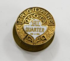 Frigidaire 1929 Service Pin 1st Quarter Quota Enamel Vintage Lapel Award Pinback 11731 epsteam by QueeniesCollectibles on Etsy