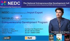 NEDC: NEDC: Export Import Program & NIESBUD: Entrepreneu...